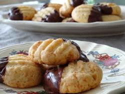 Bredele with coconut and chocolate (Alsatian Christmas cookie)
