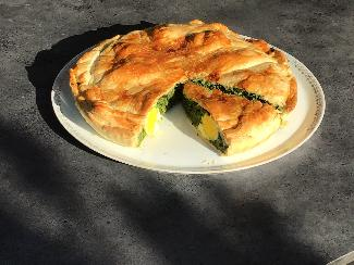 Spinach and egg pie