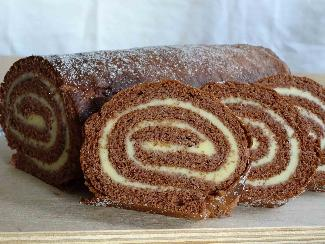 Chocolate sponge roll - Swedish drömtårta