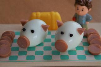 Pig shaped eggs