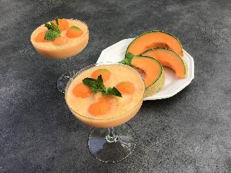 Melon and mint mousse