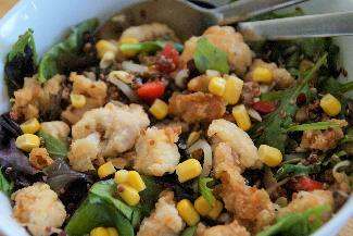 Chicken and red quinoa salad