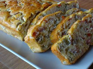 Ham and olive bread