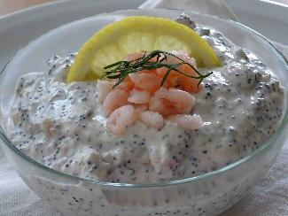 Swedish shrimp salad (Skagenröra)