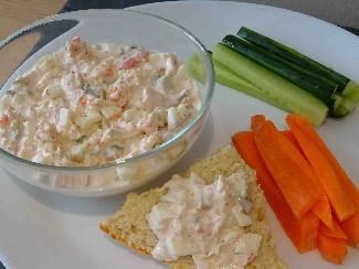 Shrimp and avocado dip